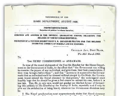 Savarkar's Mercy Petition