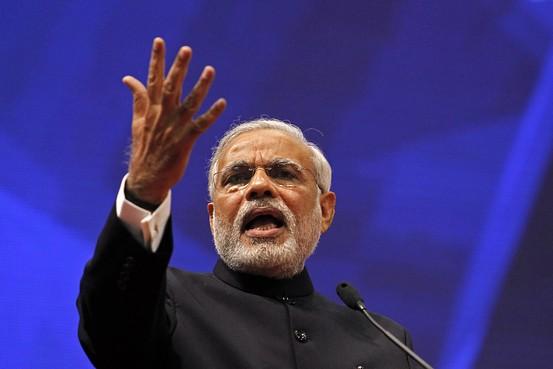 Narendra Modi at the 'Vibrant Gujarat Summit,' Gandhinagar, January 12