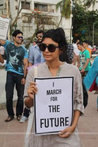 Kiran Rao in Protest for FTII Cause