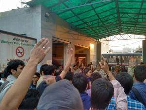 OccupyUGC-at-Bhalaswa-police-station